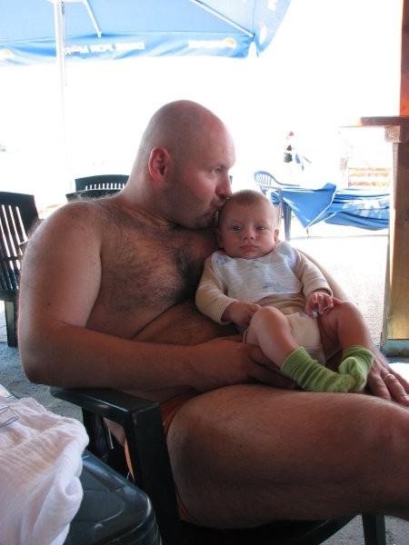 Z očkom. Olib, september 2007.