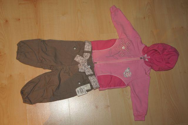 Kompletetek hlače h&m, športna jopica 68; 8 eur
