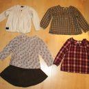 Komplet bluzic, krilo, jopica- Obaibi 3 leta, 98 ;24 eur