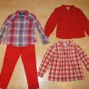 Hlače, bluzice Obaibi Okaidi H&M 98 komplet;19 eur