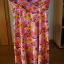 nosečniška raztegljiva poletna oblekica št. L; 12 eur
