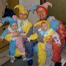 Družina dvorskih norčkov - pust 2007. Bili smo izbrani med tri najlepše družine na otroški