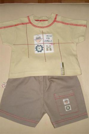 majčka s kratkimi rokavi+ kratke hlače WWW št. 0-3m oz 62  - 5€